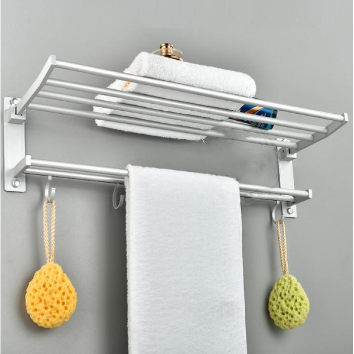 osuki quality aluminium towel hanging rack bathroom kitchen accessories. Black Bedroom Furniture Sets. Home Design Ideas