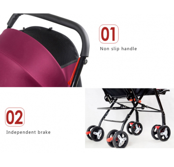 OSUKI Japan Quality Flexi Foldable Baby Stroller (Front/Back Facing)