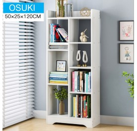 OSUKI 7 Grid Wooden Quality Bookshelf Display Rack