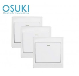 OSUKI Wall Socket Power On/Off Switch x 3