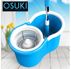 OSUKI 2 in 1 Spin Mop Bucket (Blue)