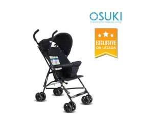OSUKI Japan Quality Light Weight Foldable Baby Stroller (Black)