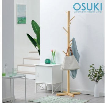 OSUKI Nature Wood Clothe Hanger Rack