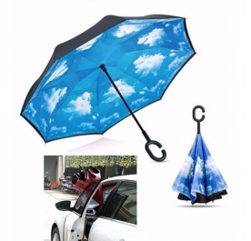 OSUKI Creative Double Reverse Umbrella (Blue)