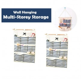 OSUKI Wall Hanging Multi-storey Storage (Blue) (x2)