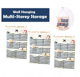 OSUKI Wall Hanging Multi-storey Storage (Blue) (x3)