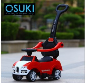 OSUKI Children 3 In 1 Walker Ride On Sport Car Music Set with Push Control Bar