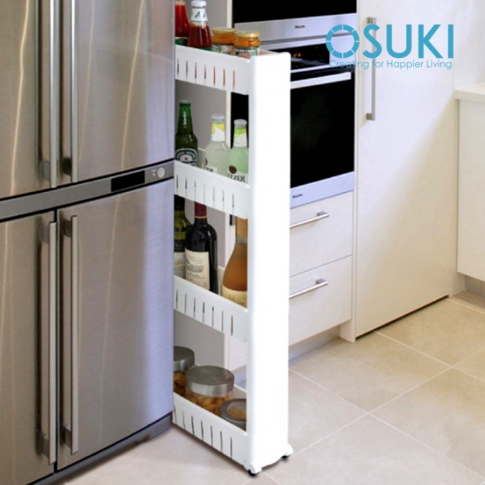 Thin Slim Wheel Movable Rack Kitchen