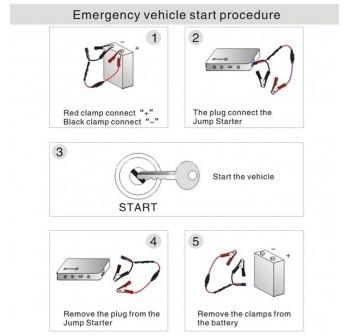 OSUKI Car Starter Jumper Power Bank 14000mAh (FREE Tyre Pump)