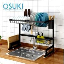 OSUKI Stainless Steel Kitchen Dish Rack Sink Top Set (7 in 1)