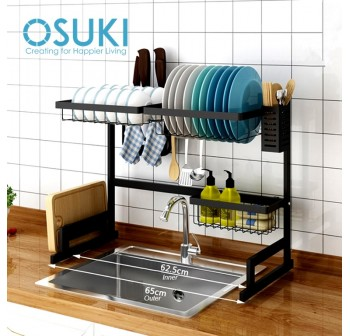 OSUKI Stainless Steel Kitchen Dish Rack Sink Top Set (7 in 1)