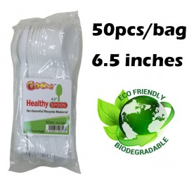 GOOOD Food Plastic Spoon 50pcs 6.5inch