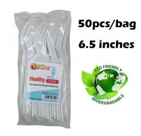 GOOOD Food Plastic Fork 50pcs 6.5inch