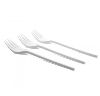GOOOD Food Plastic Fork 50pcs 6.5inch