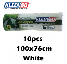 KLEENSO Garbage Bag Dustbin Oxo-Biodegradable 10pcs 100x76cm (White)