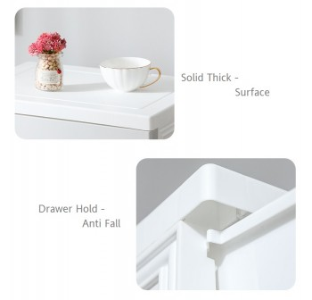 OSUKI Drawer 5 Layer Storage Cabinet 45cm Wardrobe With Key Lock