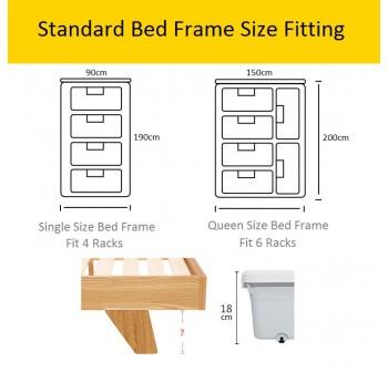 OSUKI Drawer Storage Under Bed