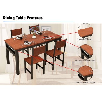 OSUKI Home Dining Chair Set 4pcs AD75