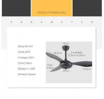 OSUKI Classic Ceiling Fan F73