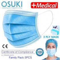 OSUKI 3-Layer Filter Face Mask (Family Pack 5pcs)