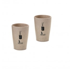 OSUKI 300 Ml Wheat Straw Rinse Cup (Brown) (X2)