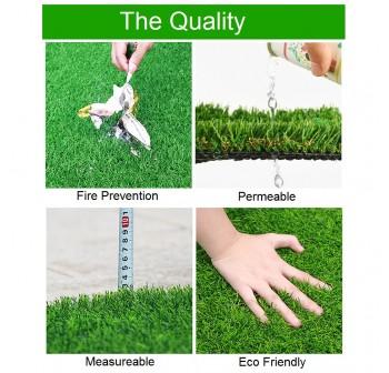 OSUKI 5 x 2m Artificial Grass Carpet 20mm Natural Green (Indoor/Outdoor)