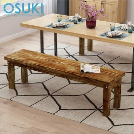 OSUKI Solid Wood Stool Long Bench 90cm