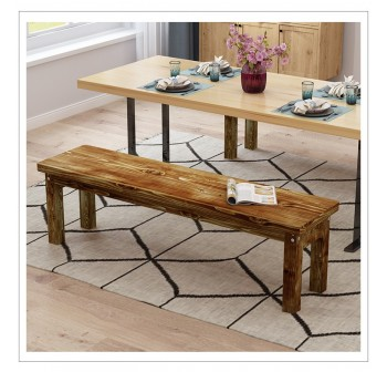 OSUKI Solid Wood Stool Long Bench 90cm