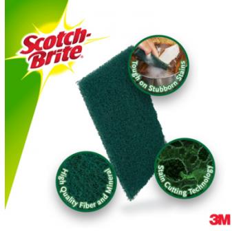 3M Scotch Brite Scouring Pad (5pcs/pack)