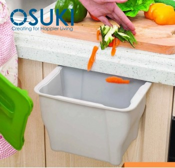OSUKI Kitchen Hang Cabinet Dustbin Basket Storage With Lid