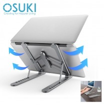 OSUKI Laptop Stand Aluminium Foldable Adjustable 7 Level
