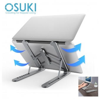 OSUKI Laptop Stand Aluminium Foldable Adjustable 7 Level