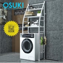 OSUKI Washing Machine Rack Shelf Hanger 3 Tier