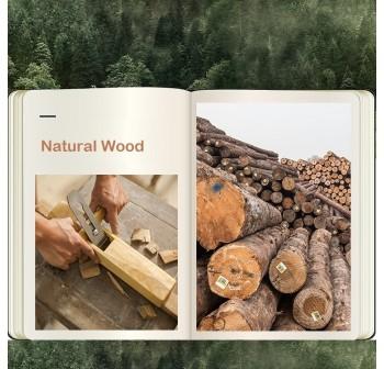 OSUKI Nature Wood Bedside Drawer 2 Layer Storage
