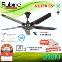 Rubine Vetta Ceiling Fan 56 Inch RCF-VETTA56-5B (FREE OSUKI DRAWER)