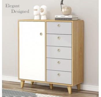 OSUKI Storage Cabinet Drawer 80cm Wardrobe