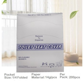 OSUKI (200pcs/pack) Disposable Toilet Seat Cover Paper Pocket Size