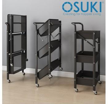 OSUKI Home Trolley Storage Rack Foldable With Handles