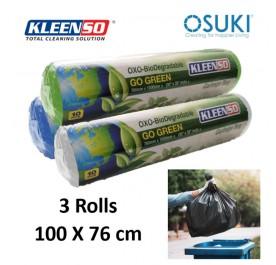 KLEENSO Garbage Bag Dustbin Oxo-Biodegradable 30pcs 100x76cm