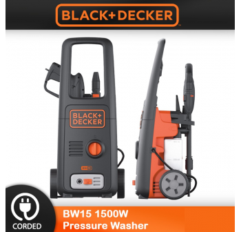 BLACK & DECKER Water Jet Pressure Washer 1500W 120Bar (BW15)