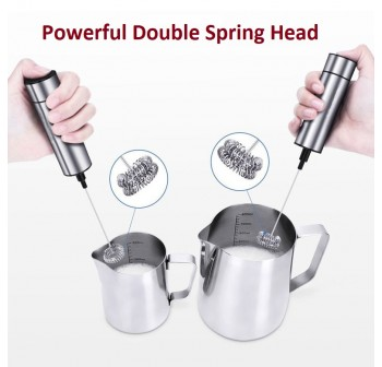 OSUKI Stainless Steel Coffee Milk Frother Mixer Stirrer (Double Spring)