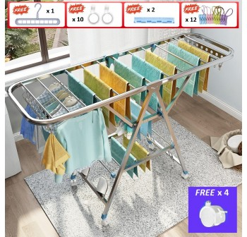 OSUKI Stainless Steel Clothes Drying Rack Foldable (3 Tier)