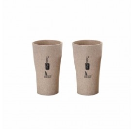 OSUKI 400ml Wheat Straw Rinse Cup (Brown) (X2)