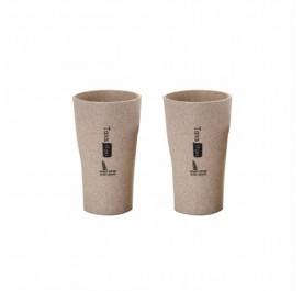 OSUKI 400ml Wheat Straw Rinse Cup (Brown) (X2)