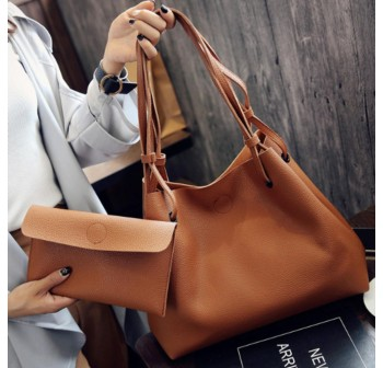 OSUKI Elegant 12212 Leather Shoulder Handbag (Brown)